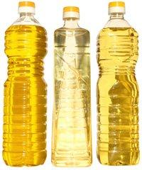 Bottles of vegetable oil