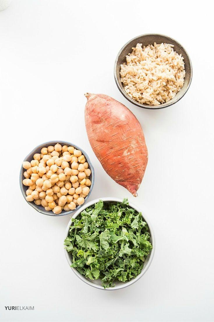 Vegan Buddha Bowl Main Ingredients
