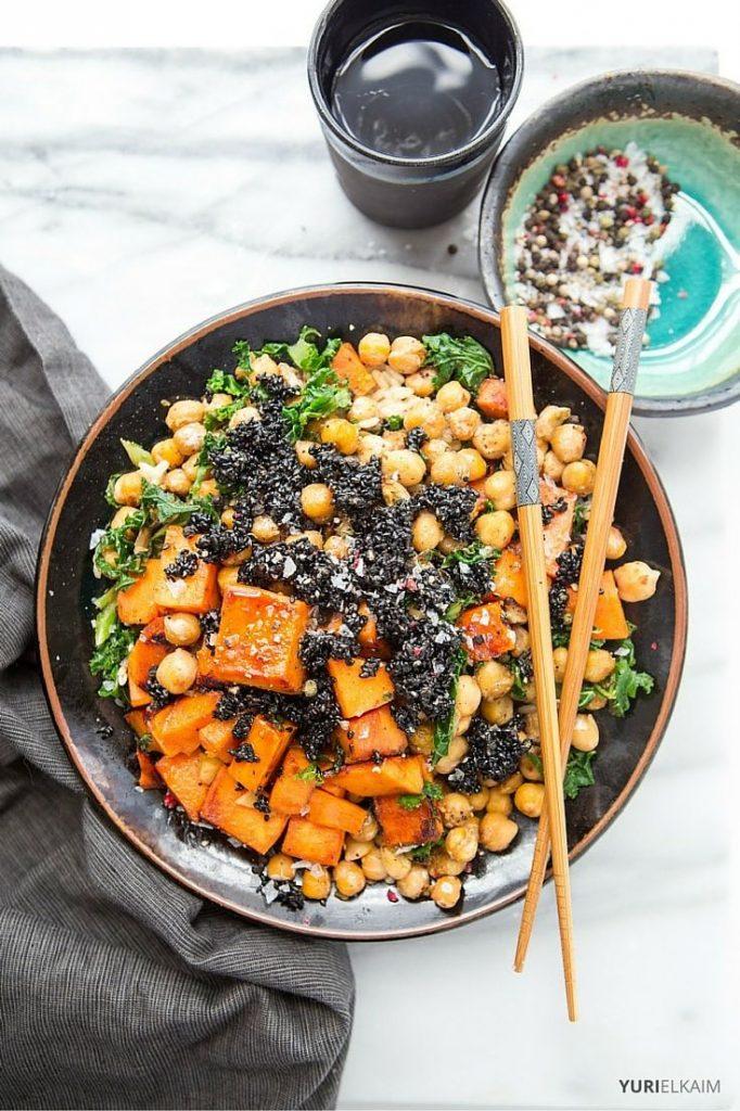 Vegan Buddha Bowl with Sesame Brittle