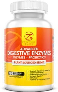 bottle of digestive enzymes