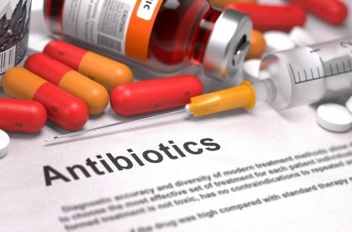 Antibiotic capsules and pills