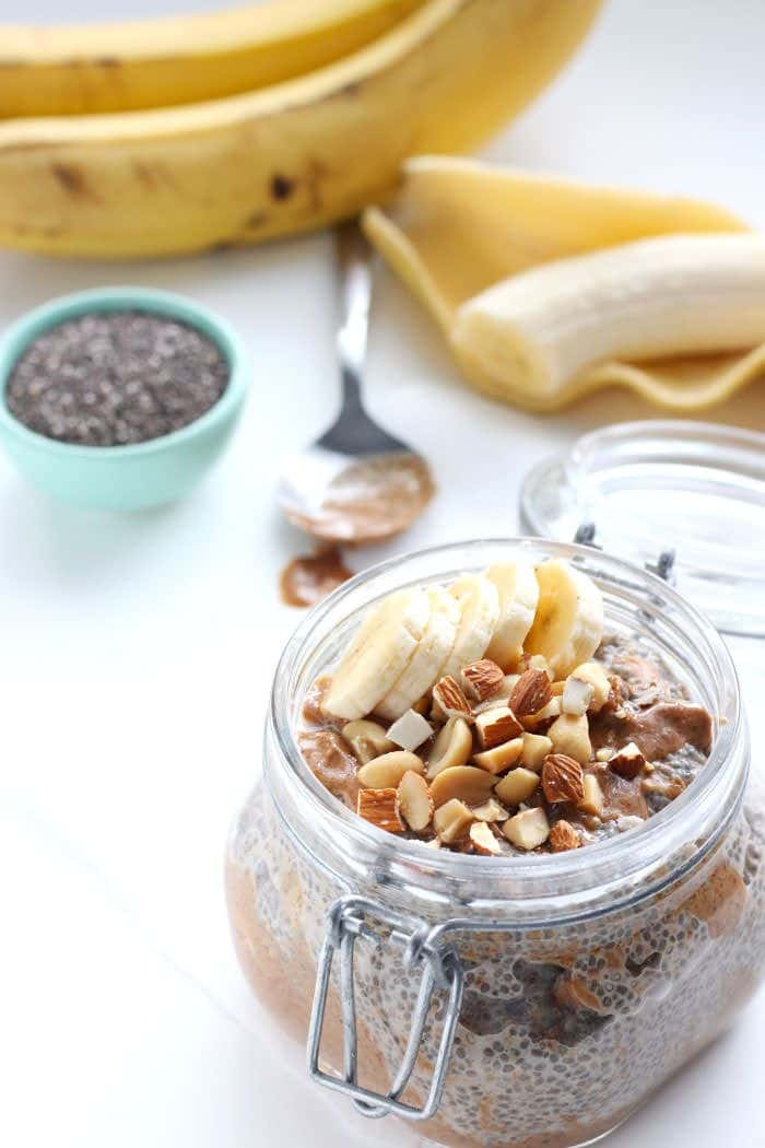 Dreamy Almond Butter Chia Pudding via The Almond Eater