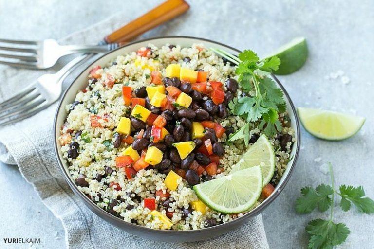 Easy Mango, Quinoa and Black Bean Salad