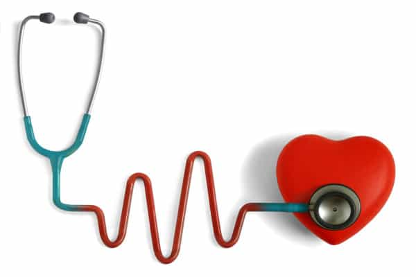 Stethoscope measuring heart beat