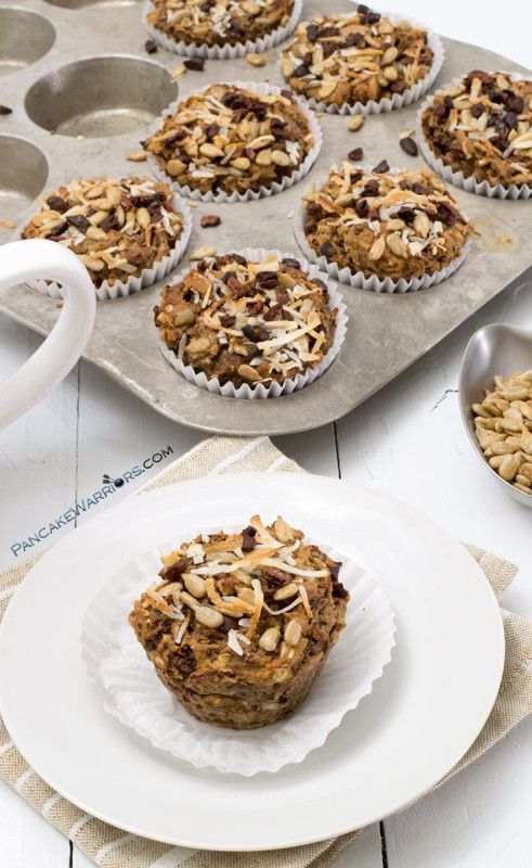 Quinoa Coconut Banana Muffins via Pancake Warriors
