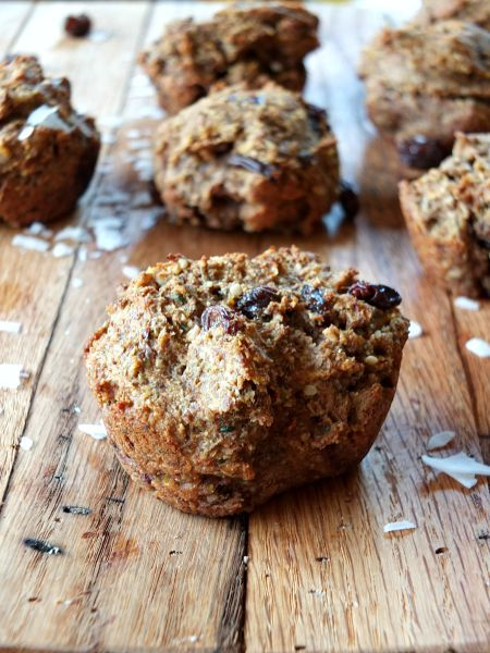 Raisin Bran Muffins via Cook It Up Paleo
