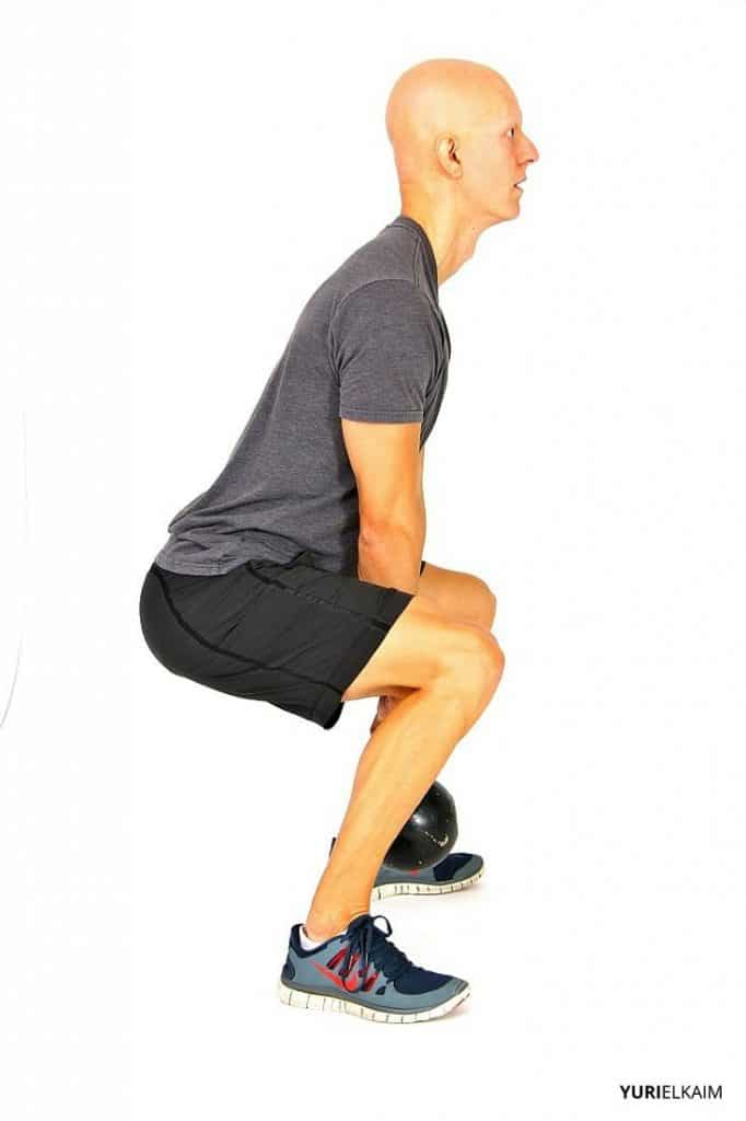 Sumo Squat - Side View Finishing Position