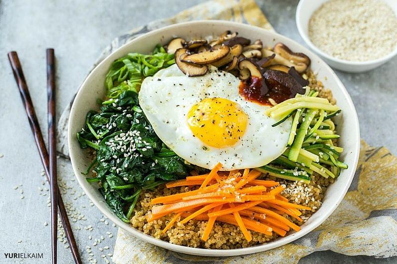 Vegetarian Quinoa Bibimbap Recipe