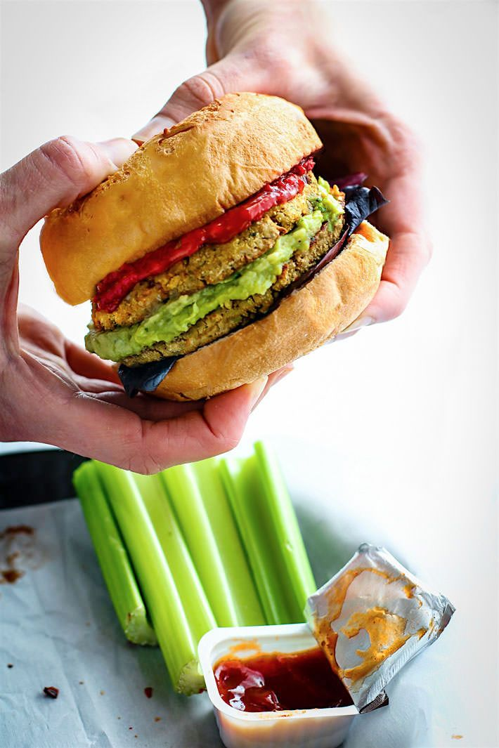 Homemade Vegan Veggie Burgers via Cotter Crunch