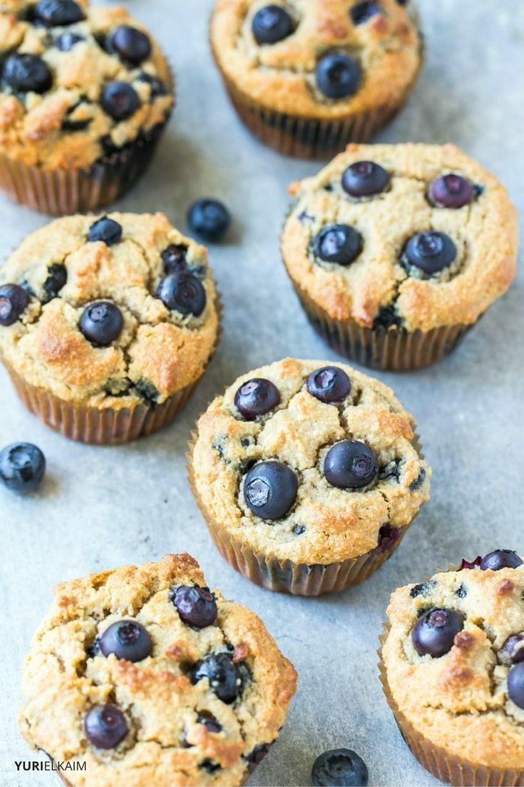 Paleo Blueberry Muffins (High in Protein)