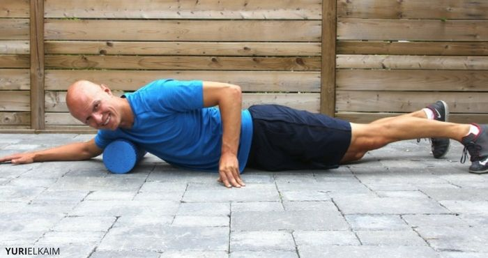 Chest Foam Roll Exercise