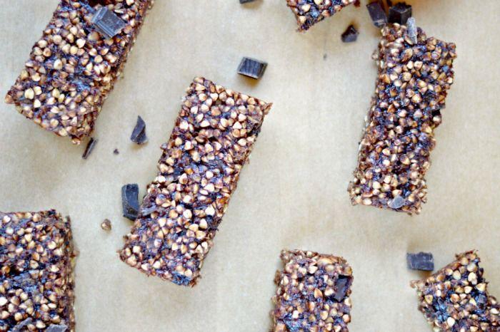 Double Chocolate Buckwheat Granola Bars