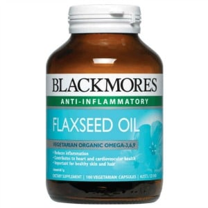 bottle of flaxseed oil