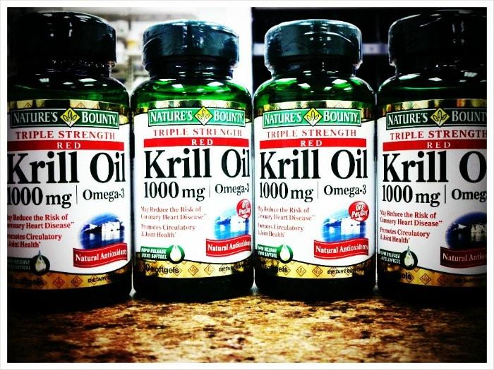 bottles of krill oil