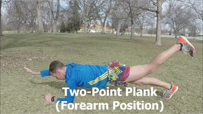 Two-Point Forearm Plank