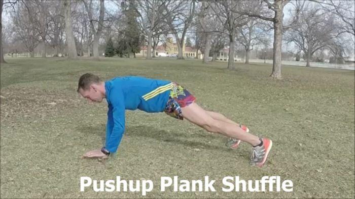 Push-up Plank Shuffle