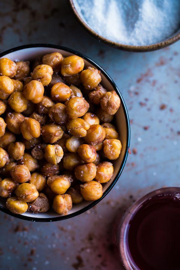 Salt and Vinegar Roasted Chickpeas via A Beautiful Plate