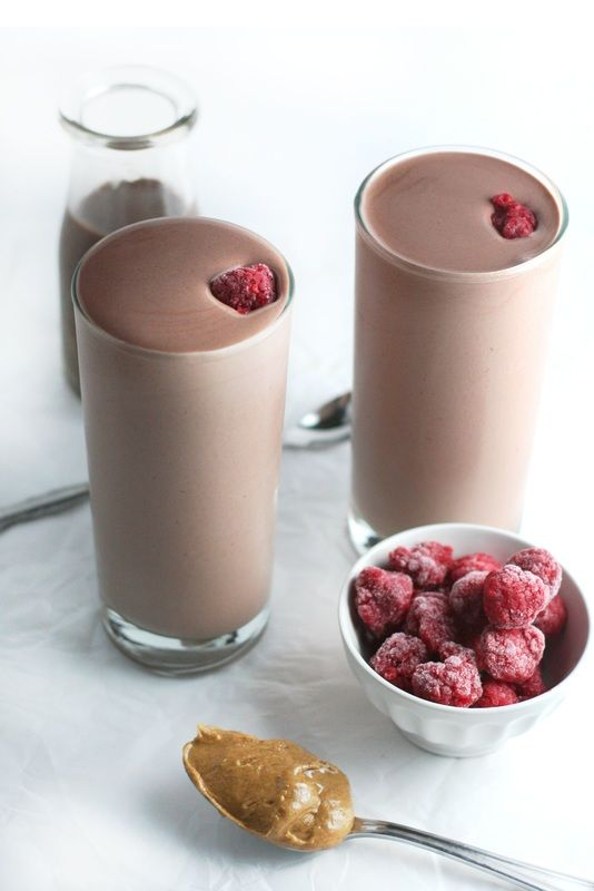 chocolate-raspberry-almond-butter-protein-shake-via-drool-worthy