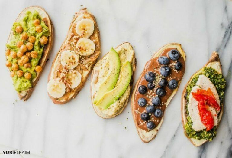 High Protein Sweet Potato Toast (5 Ways)