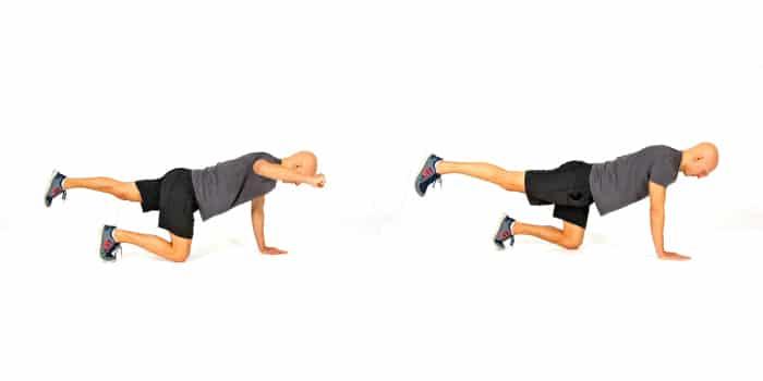sciatic-nerve-pain-exercises-kneeling-leg-and-arm-reach
