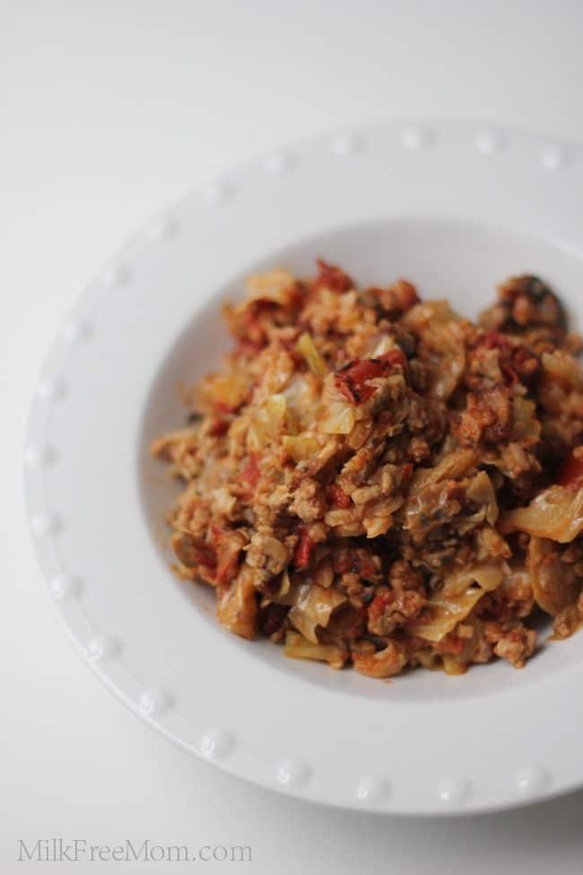 Slow Cooker Stuffed Cabbage Casserole via Milk Free Mom