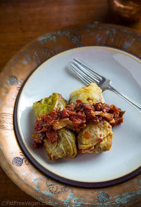 Vegan Cabbage Rolls via Fat Free Vegan