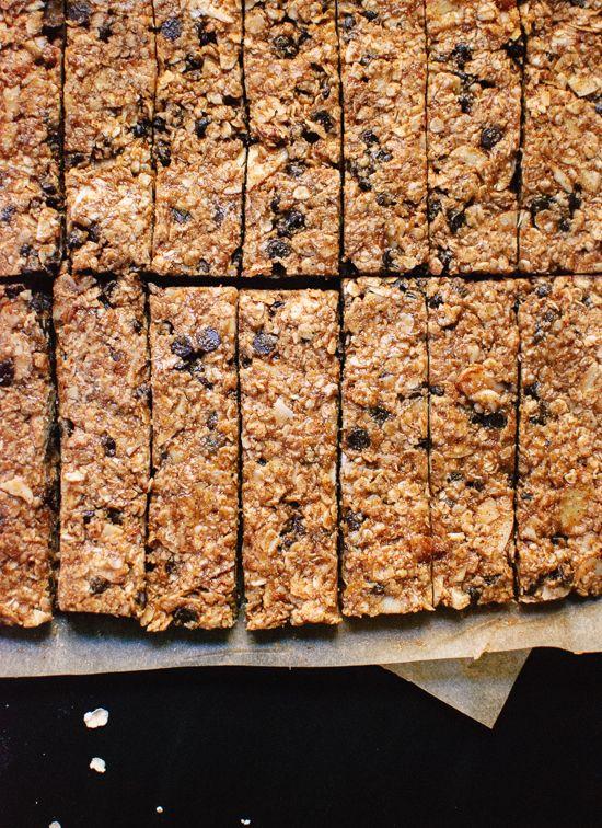 Healthy Almond Chocolate Chip Granola Bars via COOKIE + kate