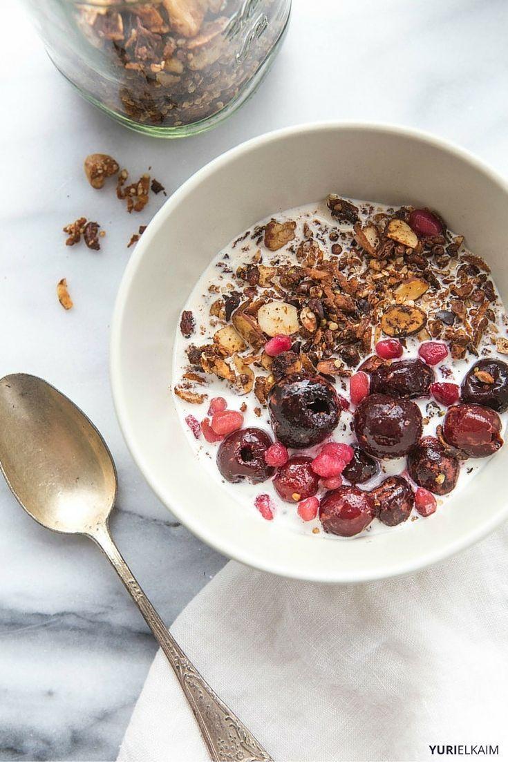Homemade Granola Cereal via Yuri Elkaim