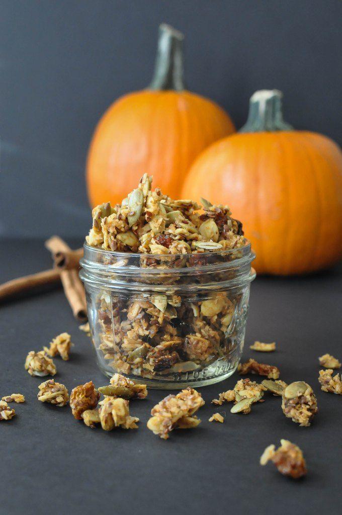 Paleo Pumpkin Spice Granola 3 Ways via Fed and Fit