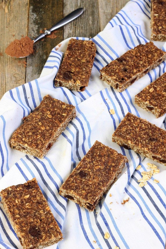 Peanut Butter Chocolate Protein Bars via Simply Sissom