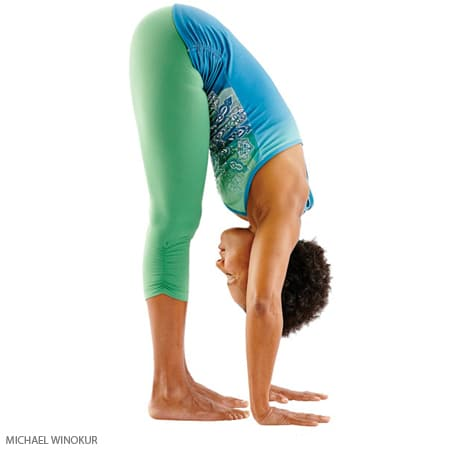 Yoga Poses for Constipation - Standing Forward Bend