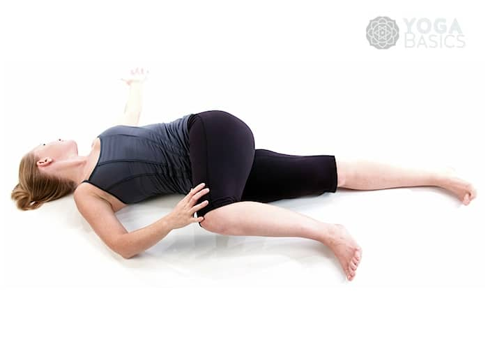 Yoga Poses for Constipation - Supine Twist