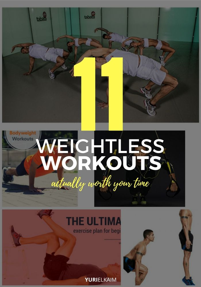 11 Weightless Workouts That Are Actually Worth Your Time