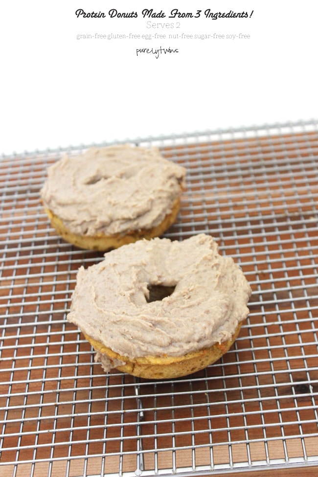 3-Ingredient Baked Protein Plantain Donut For Two via Purely Twins