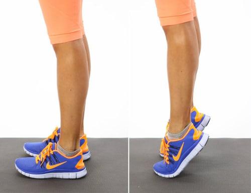 Exercises to Strengthen Knees - Heel Raises