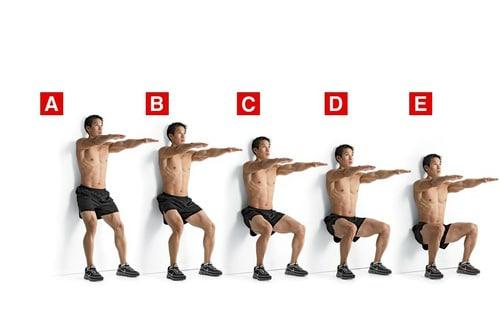 Knee Strengthening Exercises - Wall Squat