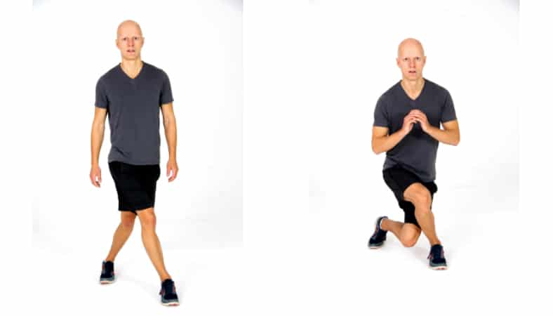 Lunge Variations - Curtsy Lunge