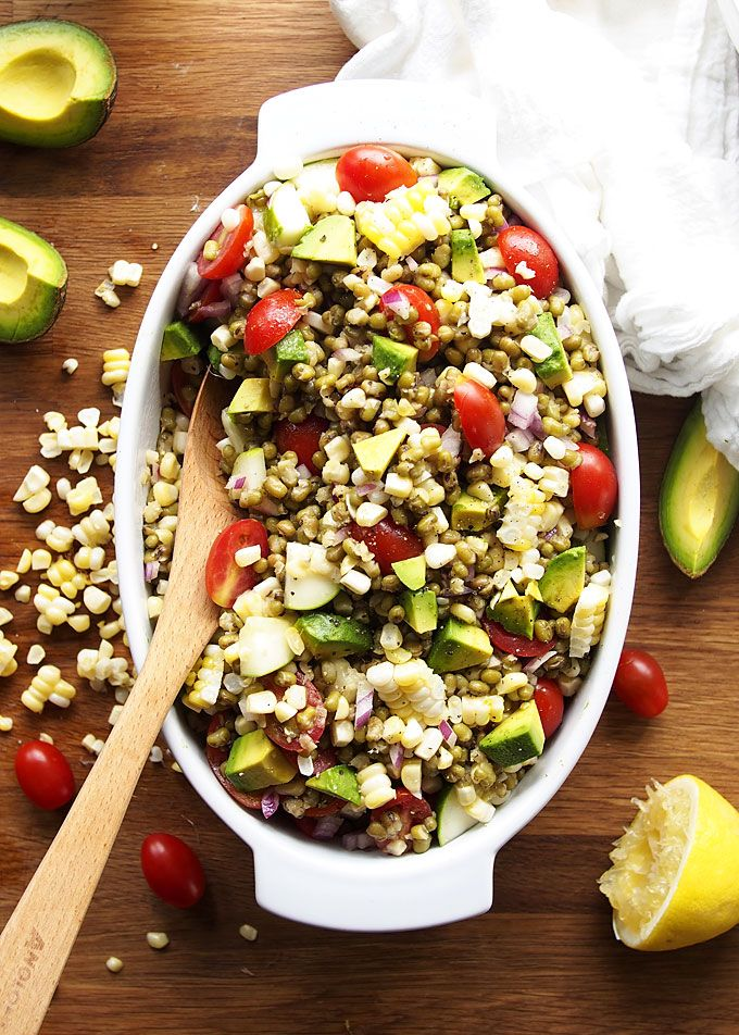 Summer Veggie Mung Bean Salad via The Kitchen Paper