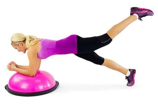 BOSU Ball Ab Exercises - BOSU Plank Leg Lift