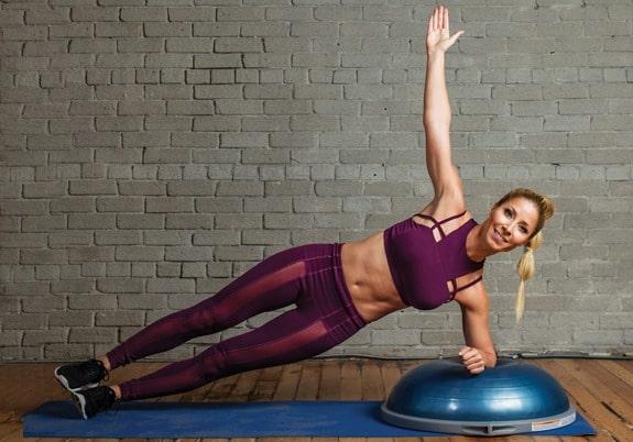 BOSU Ball Ab Exercises - Side Plank