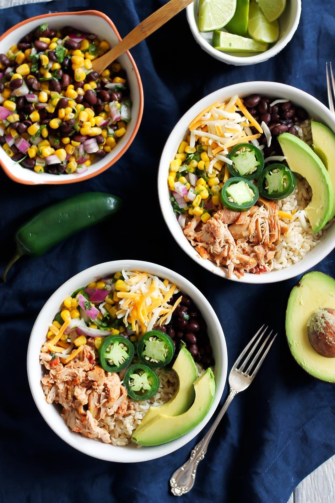 Better-Than-Chipotle DIY Chicken Burrito Bowls via Ambitious Kitchen