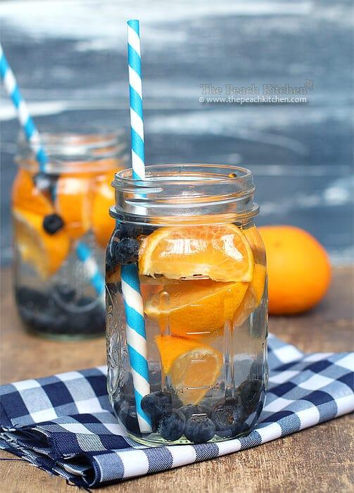 Blueberry Orange Water via The Peach Kitchen