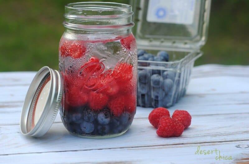 Blueberry Raspberry Infused Water via Desert Chica