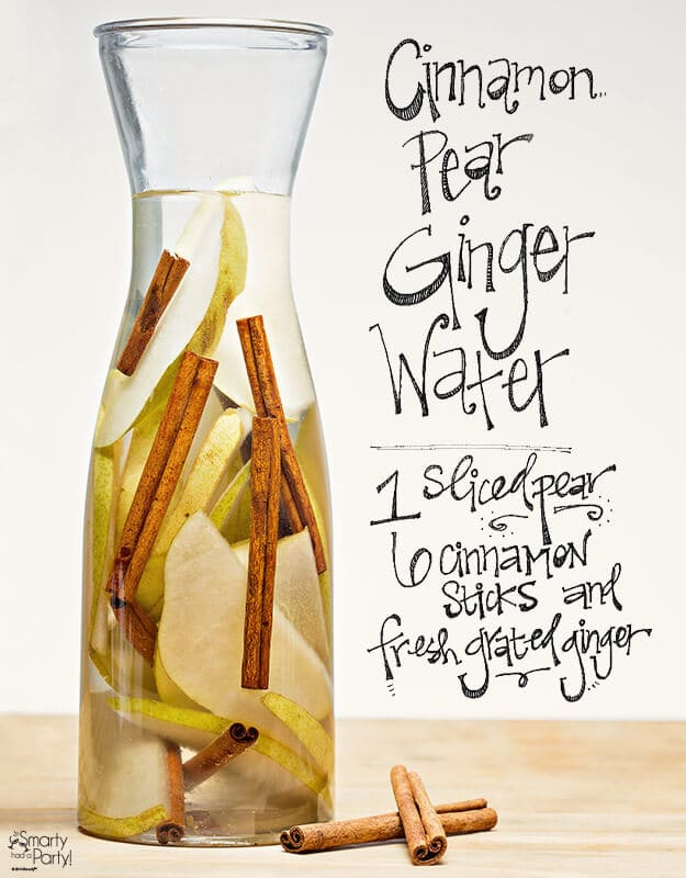 Cinnamon, Pear & Ginger Water via Smarty Had a Party