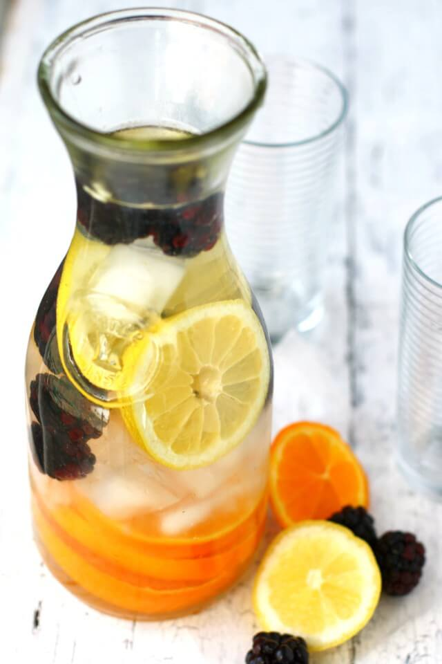 Citrus Blackberry Infused Water via The Pretty Bee
