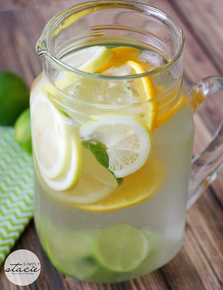 Citrus Bliss Infused Water via Simply Stacie