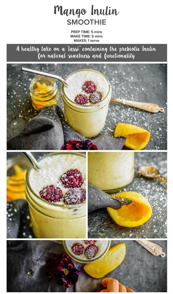 Mango Inulin Smoothie via MorLife