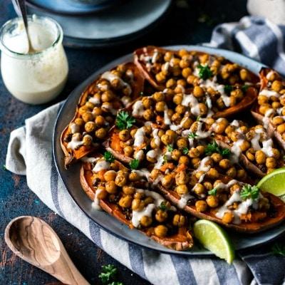 Moroccan-Chickpea-Stuffed-Double-Baked-Sweet-Potatoes