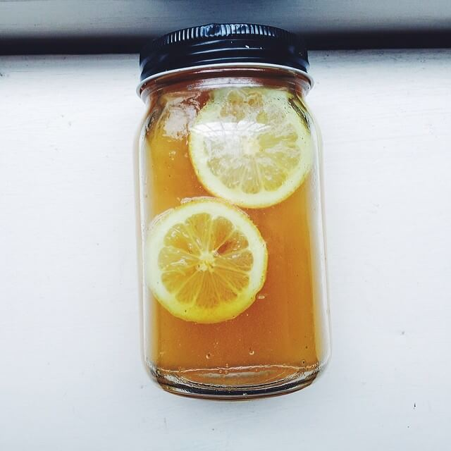 Turmeric Infused Water with Lemon and Honey via Whole Healthy Glow