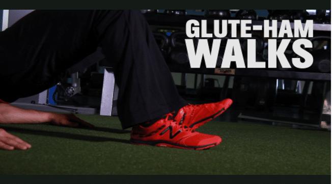 Glute Hamstring Walkout via Men's Health